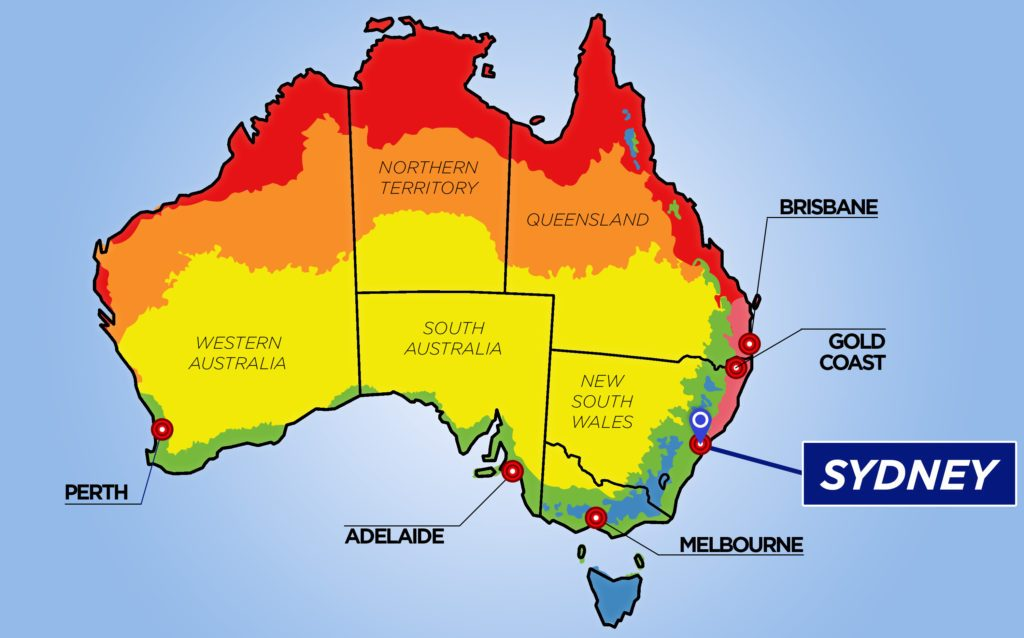 Australia Travel Checklist - australia climate map