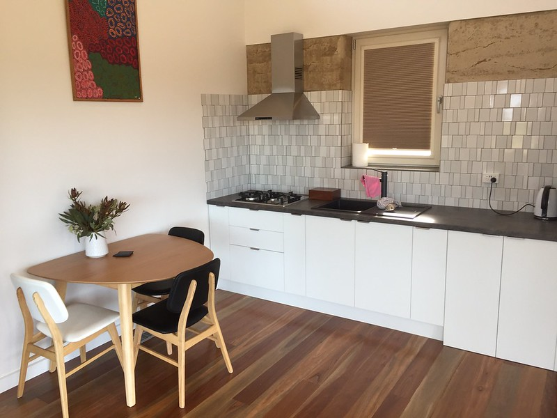 Kangaroo Island Accommodation Options - Ecopia Kitchen area