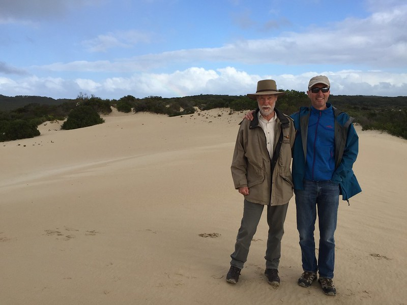 Ken & Michael in the Little Sahara Sand Dunes