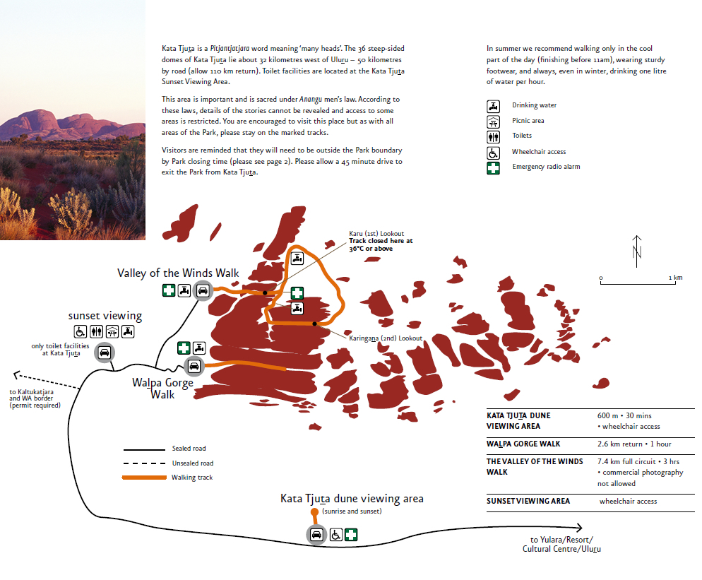 best viewing areas and walk in the kata tjuta national park