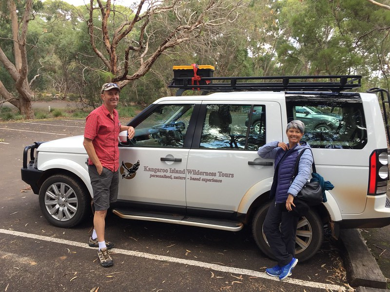 Touring with a local guide from Kangaroo Island Wilderness Tours