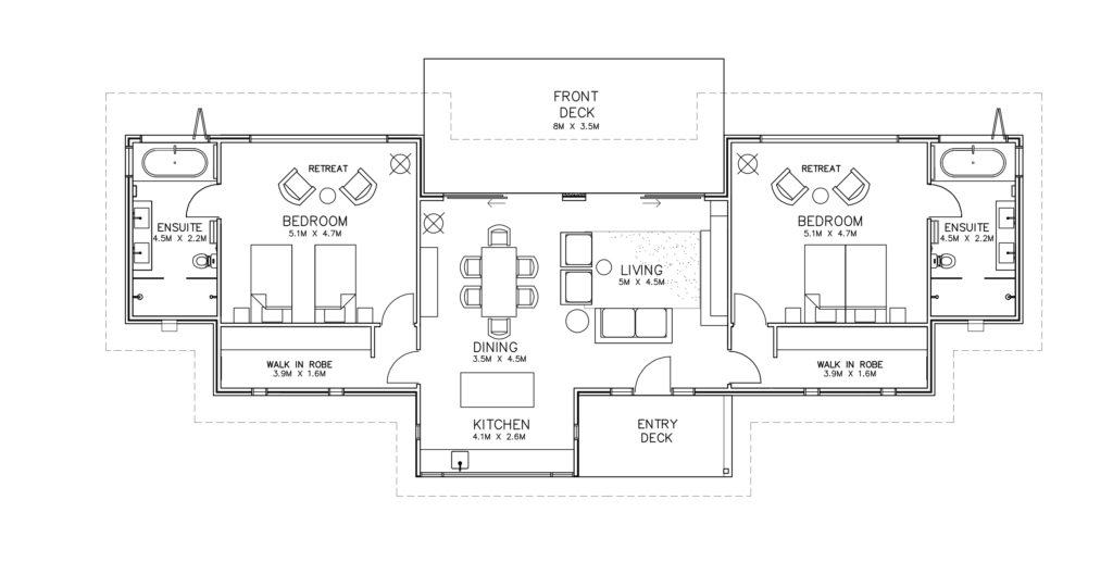 Villa Floor plan Oceanview Kangaroo Island