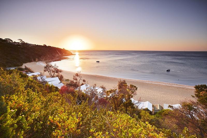 Australia beach setting